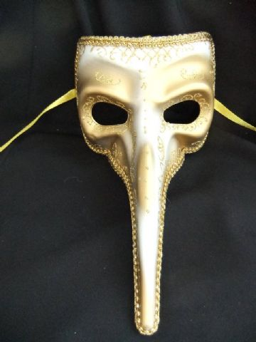 Gents Gold Long Nose mask
